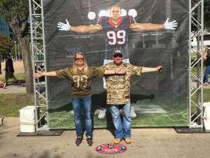 Matthew  attended Houston Texans vs. New England Patriots - NFL on Nov 22nd 2020 via VetTix