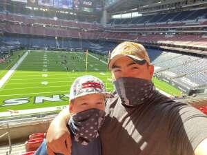 Adrian Alcorta attended Houston Texans vs. New England Patriots - NFL on Nov 22nd 2020 via VetTix