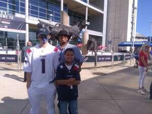 Elridge  attended Houston Texans vs. New England Patriots - NFL on Nov 22nd 2020 via VetTix