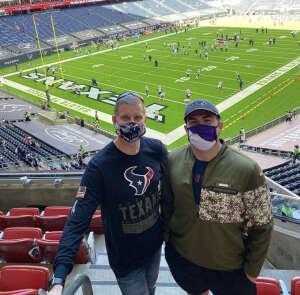 Reno attended Houston Texans vs. New England Patriots - NFL on Nov 22nd 2020 via VetTix