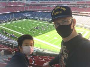 Enbergie attended Houston Texans vs. New England Patriots - NFL on Nov 22nd 2020 via VetTix