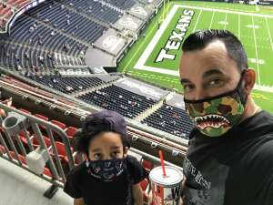 alexander mistretta attended Houston Texans vs. New England Patriots - NFL on Nov 22nd 2020 via VetTix