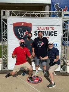 SadieH attended Houston Texans vs. New England Patriots - NFL on Nov 22nd 2020 via VetTix