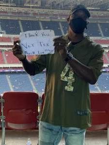 L/M attended Houston Texans vs. New England Patriots - NFL on Nov 22nd 2020 via VetTix