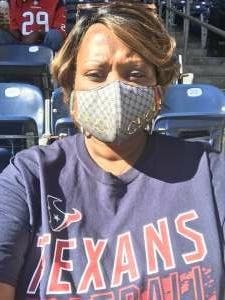 Erika attended Houston Texans vs. New England Patriots - NFL on Nov 22nd 2020 via VetTix