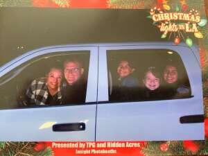 Robert attended Christmas Lights in LA on Dec 2nd 2020 via VetTix