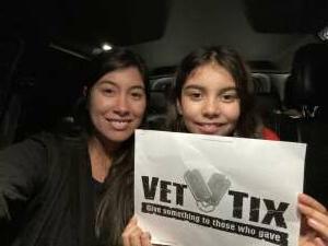 Salina attended Christmas Lights in LA on Dec 2nd 2020 via VetTix