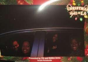 Lache attended Christmas Lights in LA on Dec 2nd 2020 via VetTix