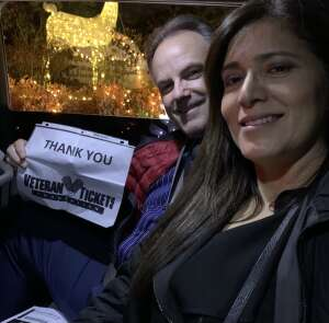 Clint attended Christmas Lights in LA on Dec 2nd 2020 via VetTix