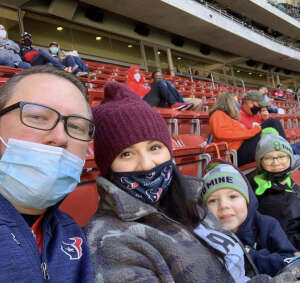 Aaron Lestage attended Houston Texans vs. Indianapolis Colts - NFL on Dec 6th 2020 via VetTix