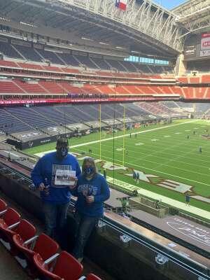 Brian attended Houston Texans vs. Indianapolis Colts - NFL on Dec 6th 2020 via VetTix