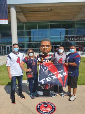 Flores attended Houston Texans vs. Indianapolis Colts - NFL on Dec 6th 2020 via VetTix