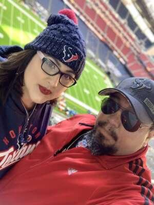 Ssg Corona attended Houston Texans vs. Indianapolis Colts - NFL on Dec 6th 2020 via VetTix
