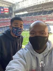 Bryant  attended Houston Texans vs. Indianapolis Colts - NFL on Dec 6th 2020 via VetTix
