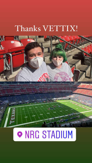Drew attended Houston Texans vs. Indianapolis Colts - NFL on Dec 6th 2020 via VetTix