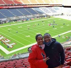 Army Veteran Pamela Smith attended Houston Texans vs. Indianapolis Colts - NFL on Dec 6th 2020 via VetTix