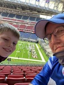 Sean attended Houston Texans vs. Indianapolis Colts - NFL on Dec 6th 2020 via VetTix
