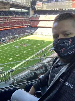 Tim H attended Houston Texans vs. Indianapolis Colts - NFL on Dec 6th 2020 via VetTix