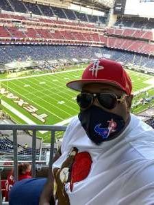 BigWork attended Houston Texans vs. Indianapolis Colts - NFL on Dec 6th 2020 via VetTix
