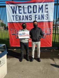 Tollie attended Houston Texans vs. Indianapolis Colts - NFL on Dec 6th 2020 via VetTix