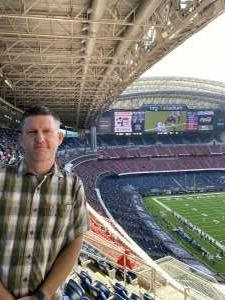 Arthur attended Houston Texans vs. Indianapolis Colts - NFL on Dec 6th 2020 via VetTix