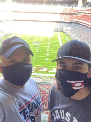 Garcia  attended Houston Texans vs. Indianapolis Colts - NFL on Dec 6th 2020 via VetTix