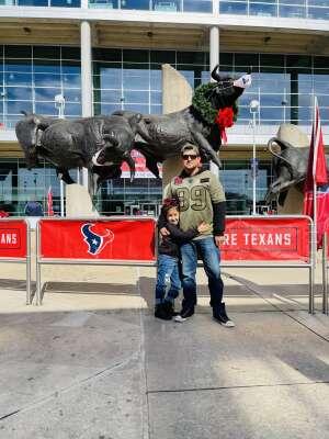 Tino  attended Houston Texans vs. Indianapolis Colts - NFL on Dec 6th 2020 via VetTix