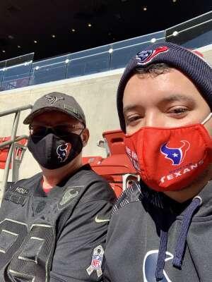 Ed attended Houston Texans vs. Indianapolis Colts - NFL on Dec 6th 2020 via VetTix