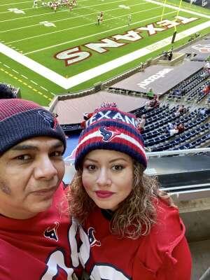 Joaquin Alviar attended Houston Texans vs. Indianapolis Colts - NFL on Dec 6th 2020 via VetTix