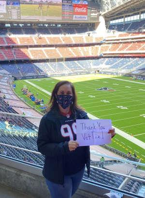 Sfc (Ret) Vela attended Houston Texans vs. Indianapolis Colts - NFL on Dec 6th 2020 via VetTix