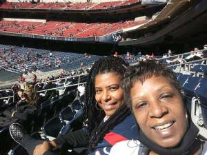 Yolanda Rae Hill attended Houston Texans vs. Indianapolis Colts - NFL on Dec 6th 2020 via VetTix
