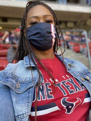 S Smith attended Houston Texans vs. Indianapolis Colts - NFL on Dec 6th 2020 via VetTix