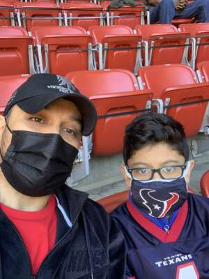 Eric Aguilar attended Houston Texans vs. Indianapolis Colts - NFL on Dec 6th 2020 via VetTix