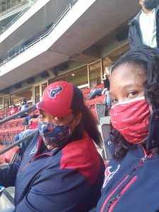 Delrisha  attended Houston Texans vs. Indianapolis Colts - NFL on Dec 6th 2020 via VetTix