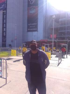 Gregory attended Houston Texans vs. Indianapolis Colts - NFL on Dec 6th 2020 via VetTix