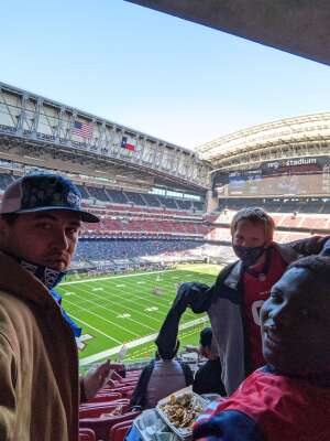Adam attended Houston Texans vs. Indianapolis Colts - NFL on Dec 6th 2020 via VetTix