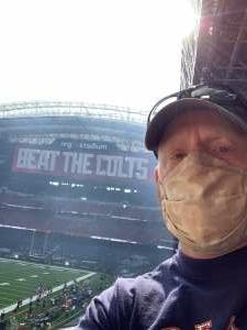 MJ attended Houston Texans vs. Indianapolis Colts - NFL on Dec 6th 2020 via VetTix