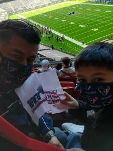 NAVY- AOC attended Houston Texans vs. Indianapolis Colts - NFL on Dec 6th 2020 via VetTix