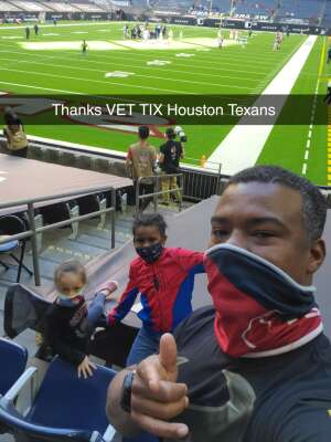 Ernest young attended Houston Texans vs. Indianapolis Colts - NFL on Dec 6th 2020 via VetTix