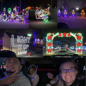 Leann attended Drive through holiday light show on Dec 10th 2020 via VetTix