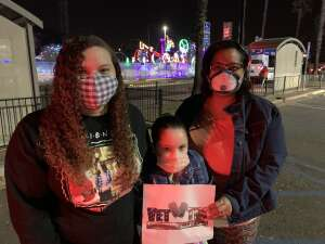 NR attended Drive through holiday light show on Dec 10th 2020 via VetTix