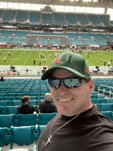 William Lane attended University of Miami Hurricanes vs. University of North Carolina Tar Heels- NCAA Football on Dec 12th 2020 via VetTix