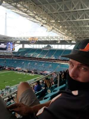 BigRope attended University of Miami Hurricanes vs. University of North Carolina Tar Heels- NCAA Football on Dec 12th 2020 via VetTix