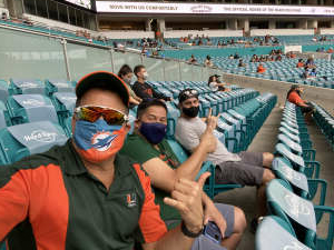 Mario attended University of Miami Hurricanes vs. University of North Carolina Tar Heels- NCAA Football on Dec 12th 2020 via VetTix