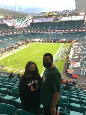 MSG attended University of Miami Hurricanes vs. University of North Carolina Tar Heels- NCAA Football on Dec 12th 2020 via VetTix
