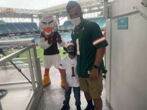 Adrian Mclean attended University of Miami Hurricanes vs. University of North Carolina Tar Heels- NCAA Football on Dec 12th 2020 via VetTix