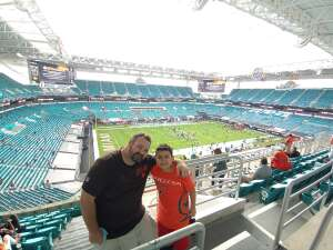 Justin attended University of Miami Hurricanes vs. University of North Carolina Tar Heels- NCAA Football on Dec 12th 2020 via VetTix