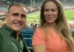 Johnny  attended University of Miami Hurricanes vs. University of North Carolina Tar Heels- NCAA Football on Dec 12th 2020 via VetTix