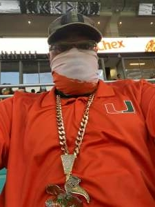 Elijah Williams attended University of Miami Hurricanes vs. University of North Carolina Tar Heels- NCAA Football on Dec 12th 2020 via VetTix