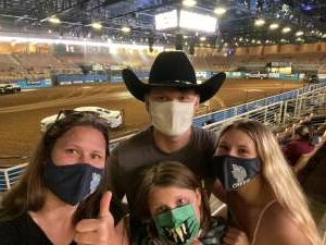 The Gibsons attended Ram National Circuit Finals Rodeo - Military Appreciation Night on Apr 9th 2021 via VetTix